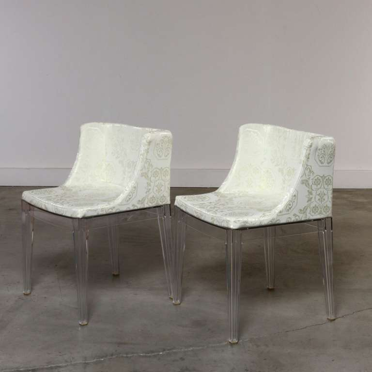 Pair Of Lucite Mademoiselle Chairs By Philippe Starck Made