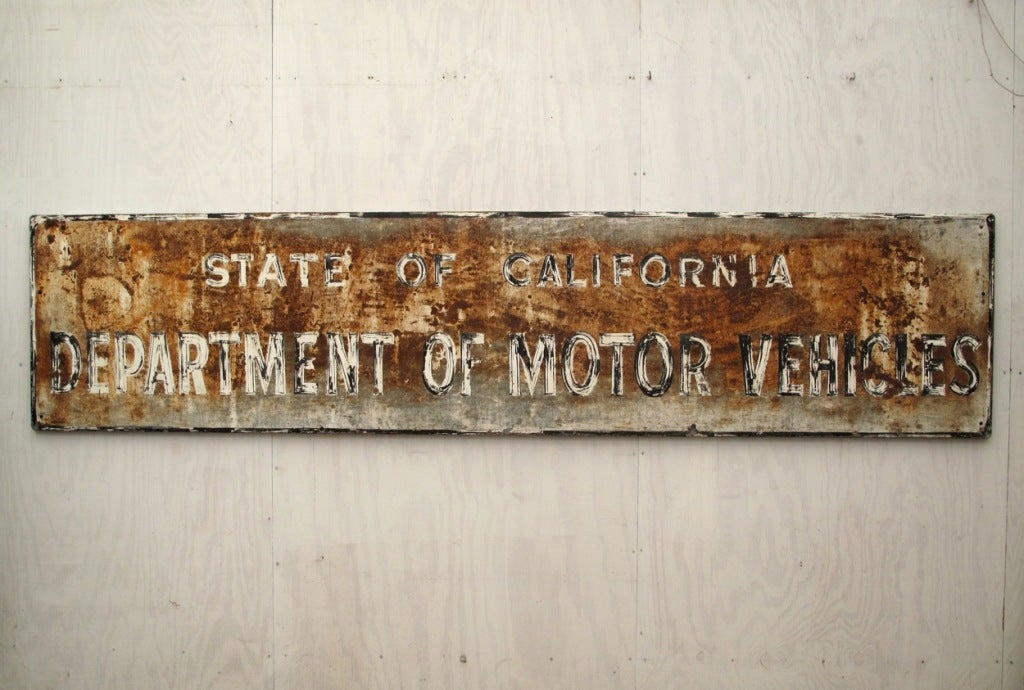 1960 39 s state of california dept of motor vehicles sign for California state department of motor vehicles