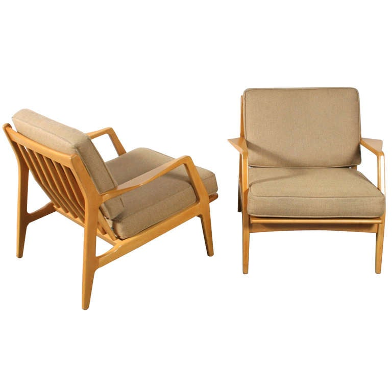 Pair of Danish Lounge Chairs by Selig