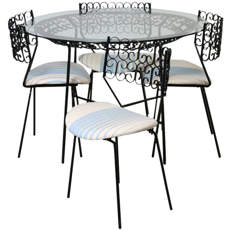 Salterini Garden Table And Chairs Maurizio Tempestini At