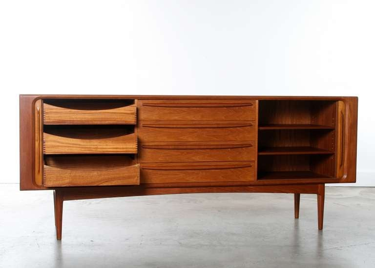 Large Danish Teak Sideboard Credenza, 1960s 2
