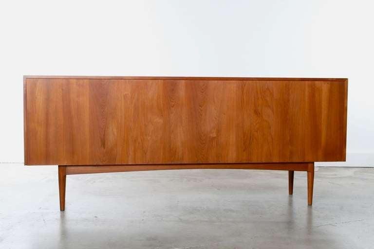 Large Danish Teak Sideboard Credenza, 1960s 8