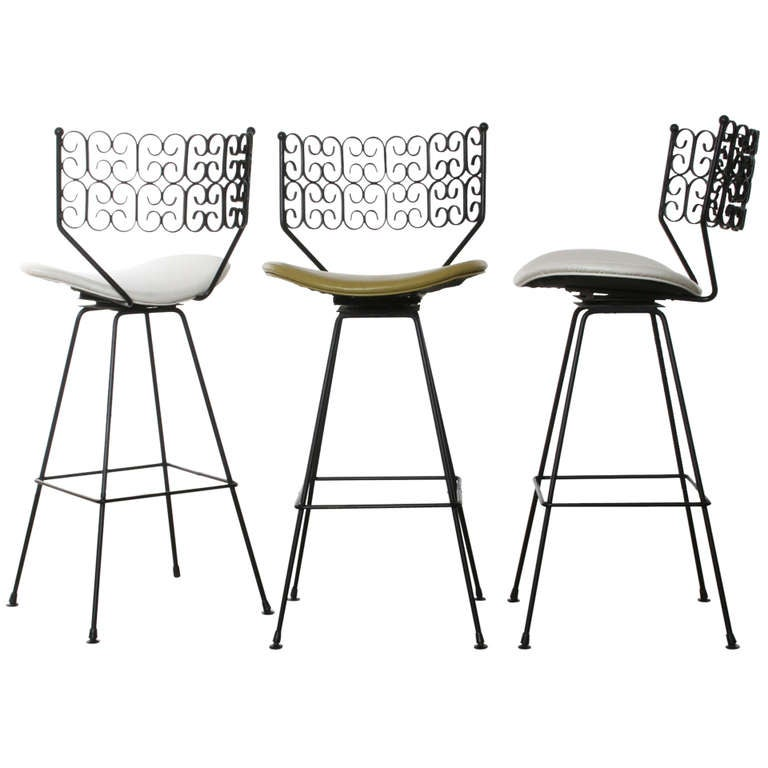 Salterini Bar Stools Set Of 3 1