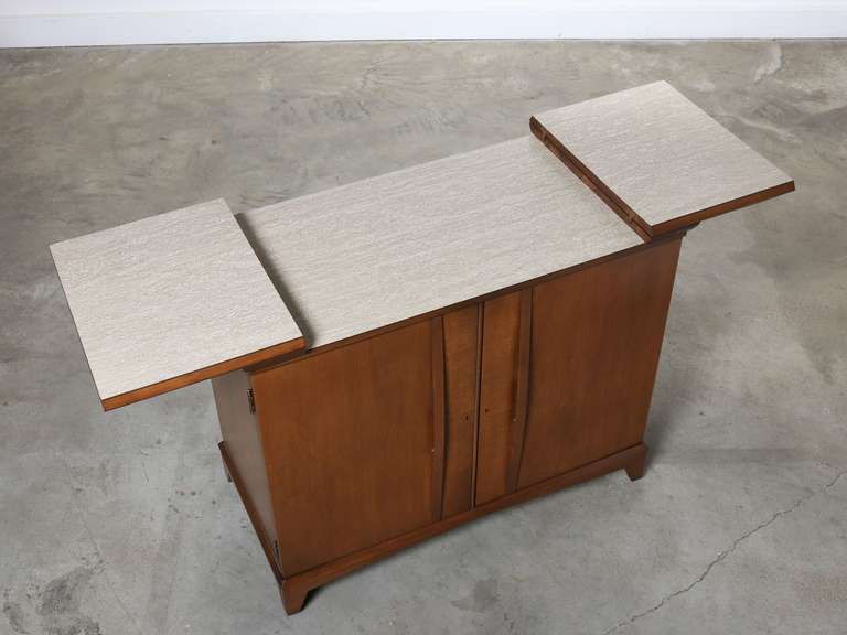 Mid Century Hide-A-Way Dry Bar / Liquor Cabinet at 1stdibs