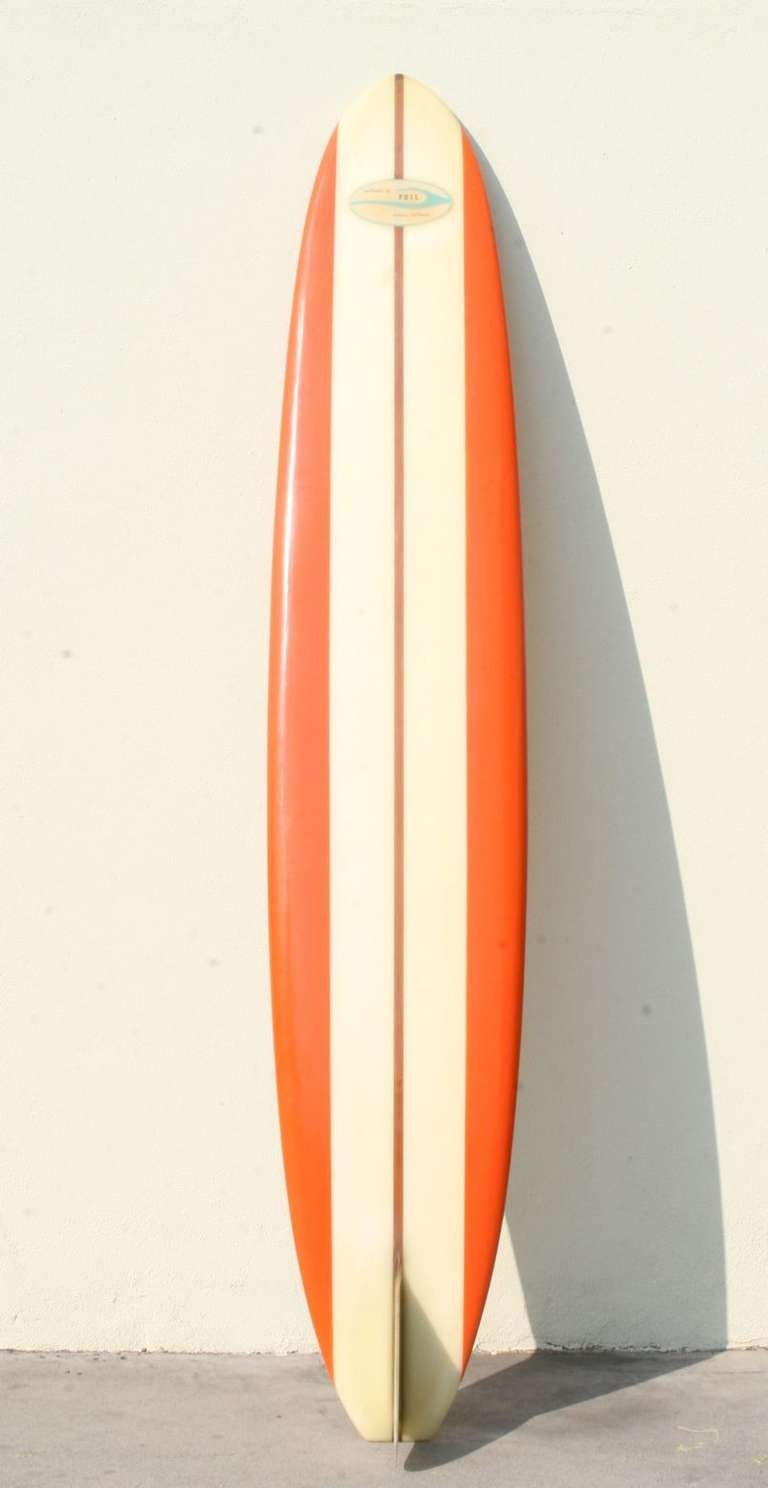 1960's Phil Longboard, Surfboard to the Stars at 1stdibs