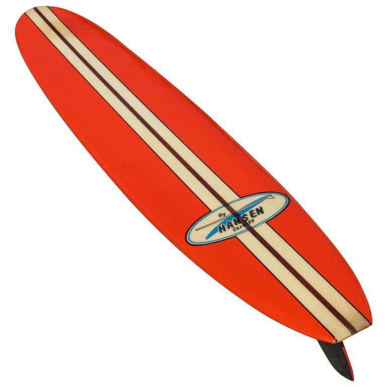 All Original Early 1960s Hansen Surfboard at 1stdibs - 1963 Home Decor