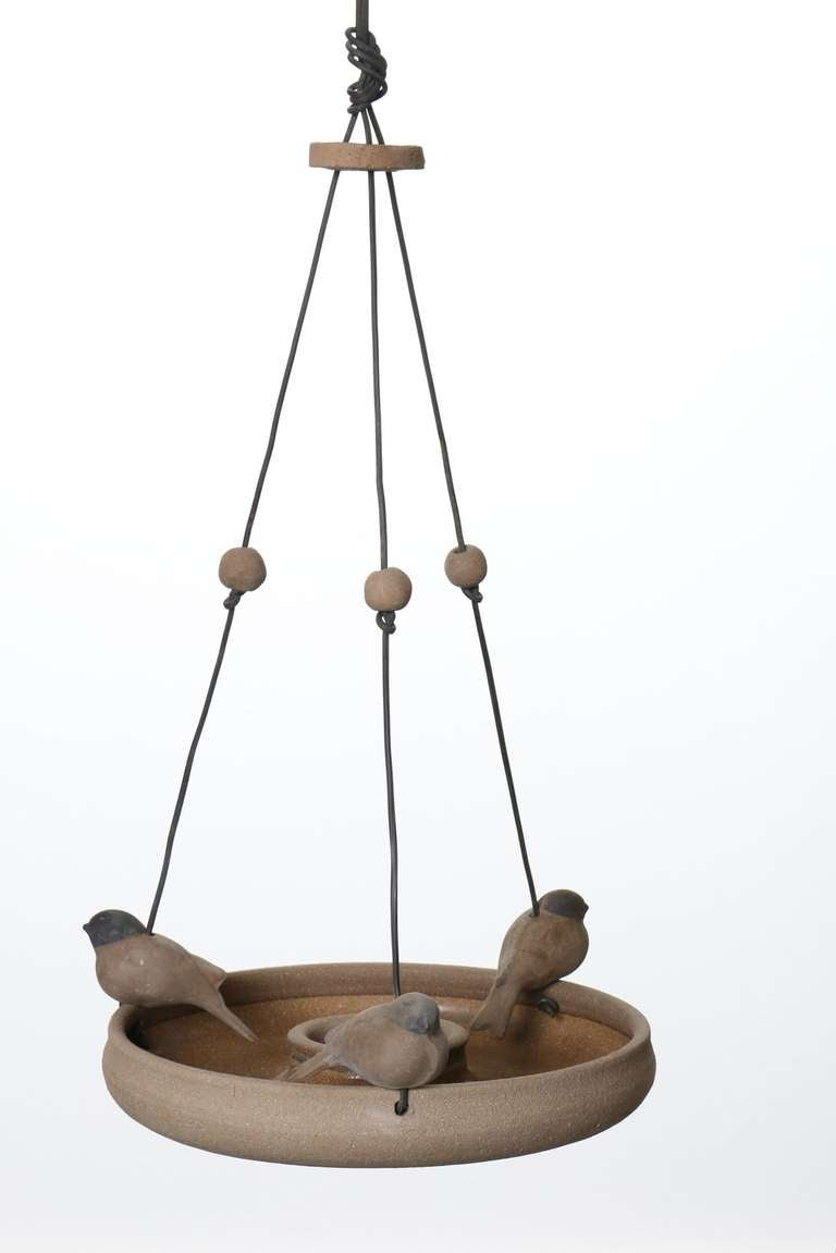 California Ceramic Hanging Bird Feeder By Stan Bitters For