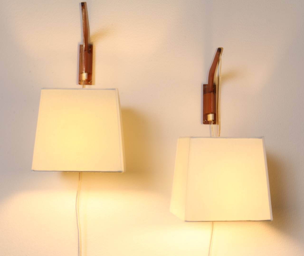 Danish Modern Hanging Lamps with Original Shades at 1stdibs