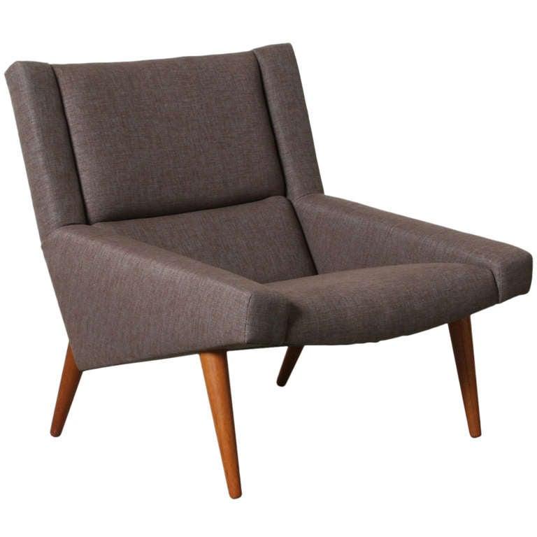 Danish Modern Lounge Chair at 1stdibs