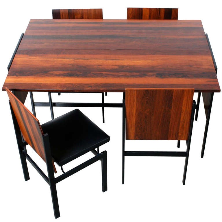 Modular Rosewood Dining Table and 4 Chair Set at 1stdibs : rosewoodchairandtableset13l from www.1stdibs.com size 768 x 768 jpeg 53kB