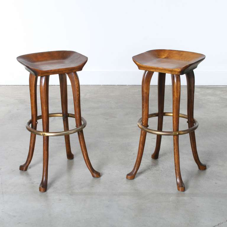 Jean Of Topanga Counter Height Stools Pair At 1stdibs