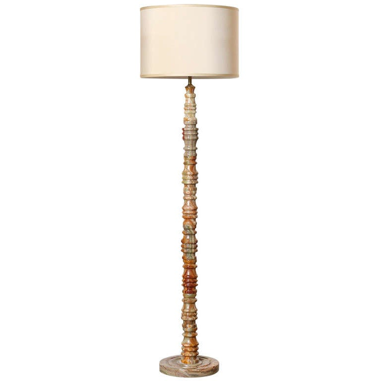 Marble Onyx Floor Lamp At 1stdibs