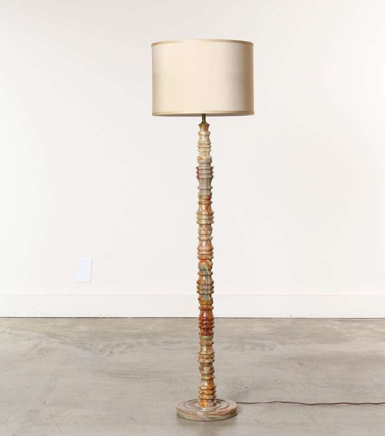 Marble Onyx Floor Lamp At 1stdibs