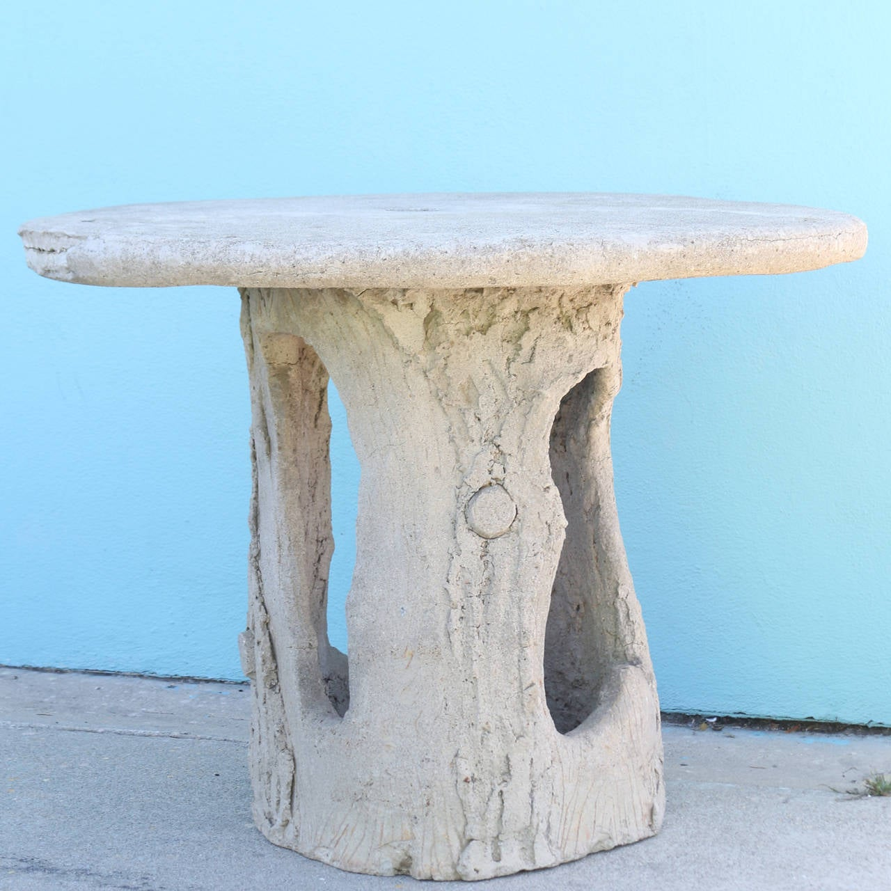 Faux Bois Garden Patio Table, 1940s at 1stdibs