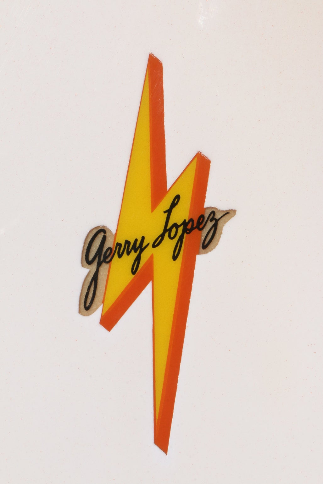 orange terry martin shaped george lopez lightning bolt