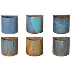 David Cressey Stoneware Planters, California Design, Set of Six, 1970s