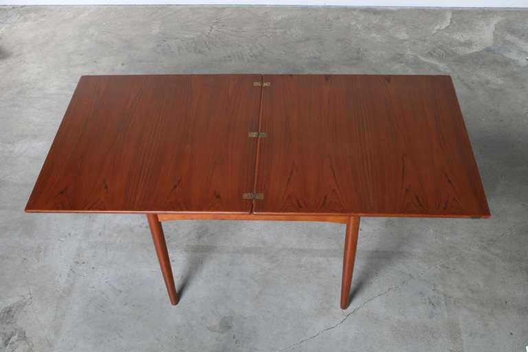 borge mogensen danish flip top teak dining table at 1stdibs. Black Bedroom Furniture Sets. Home Design Ideas