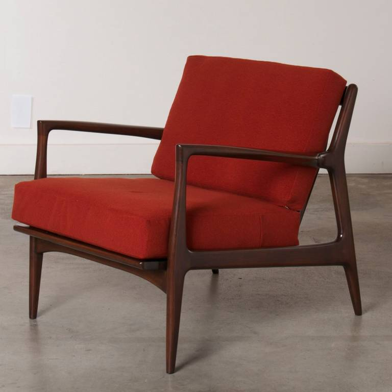 Dux Mid Century Scandinavian Design Walnut Arm Chair