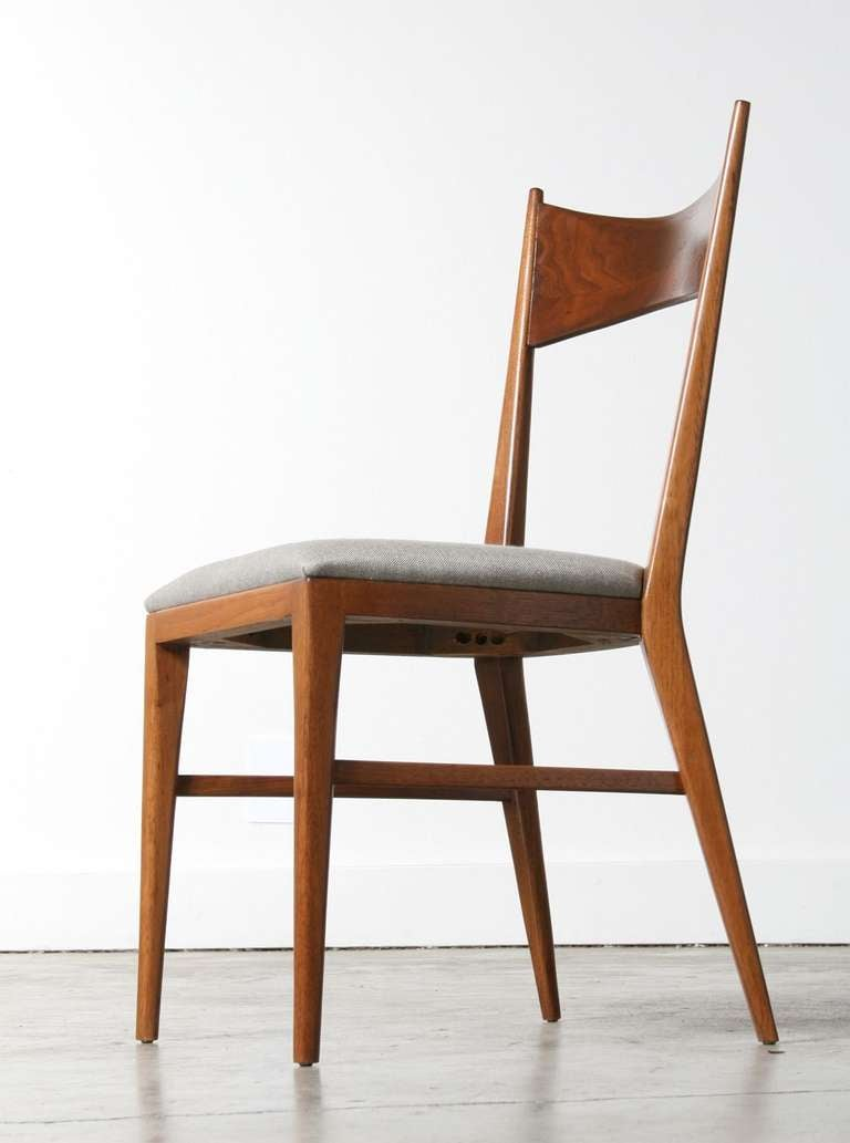 Paul McCobb Bowtie Walnut Dining Chairs for Calvin