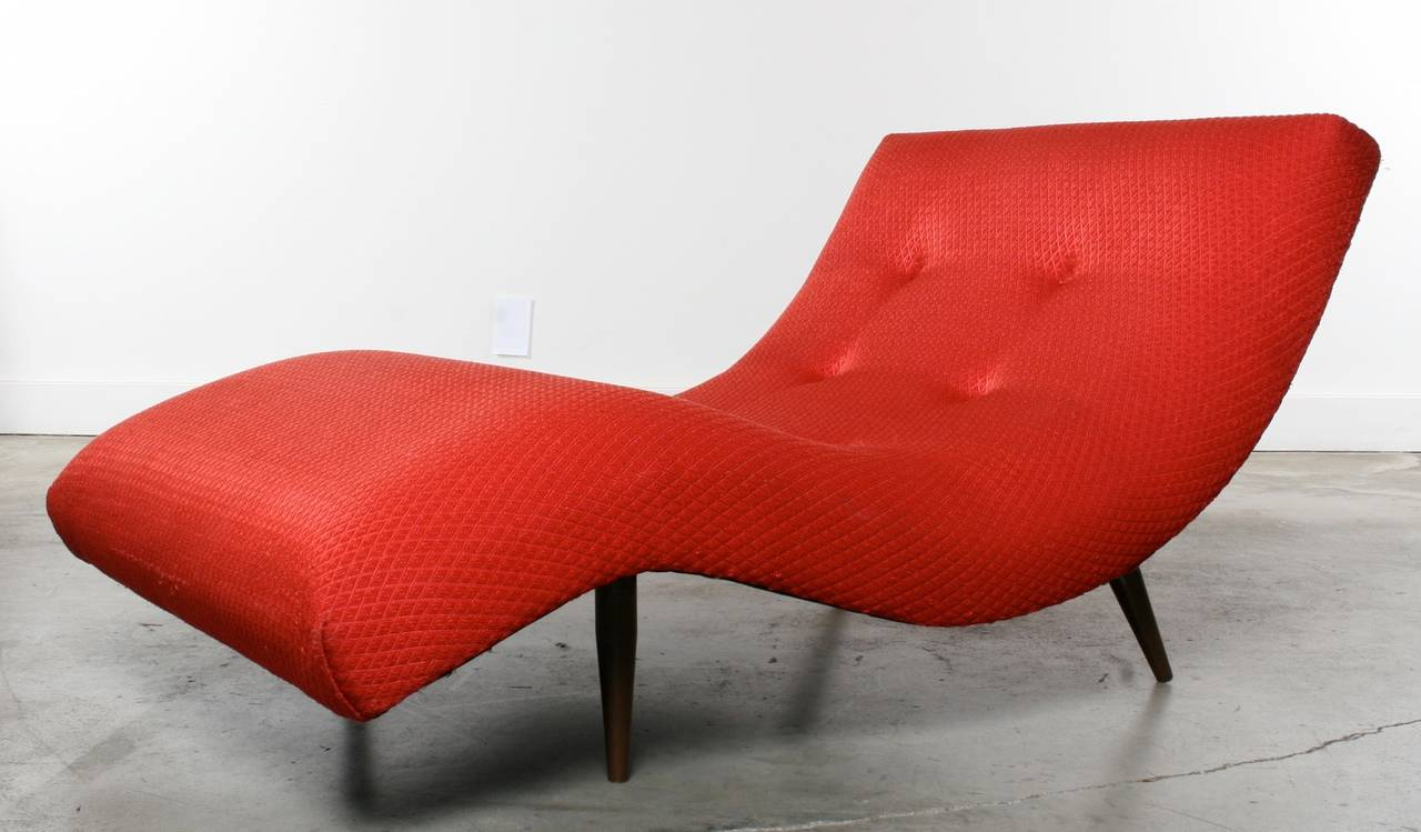 Adrian Pearsall Wave Chair Or Chaise Longue 1960s At 1stdibs