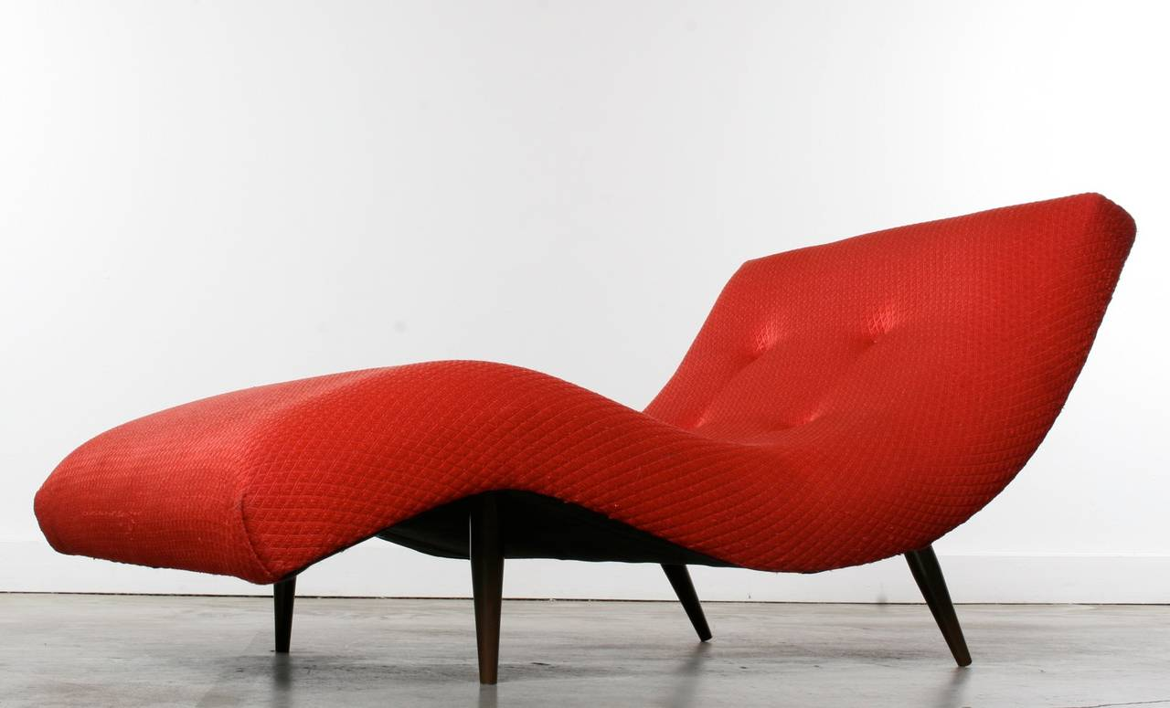 Adrian pearsall wave chair or chaise longue 1960s at 1stdibs for Chaise longue wave