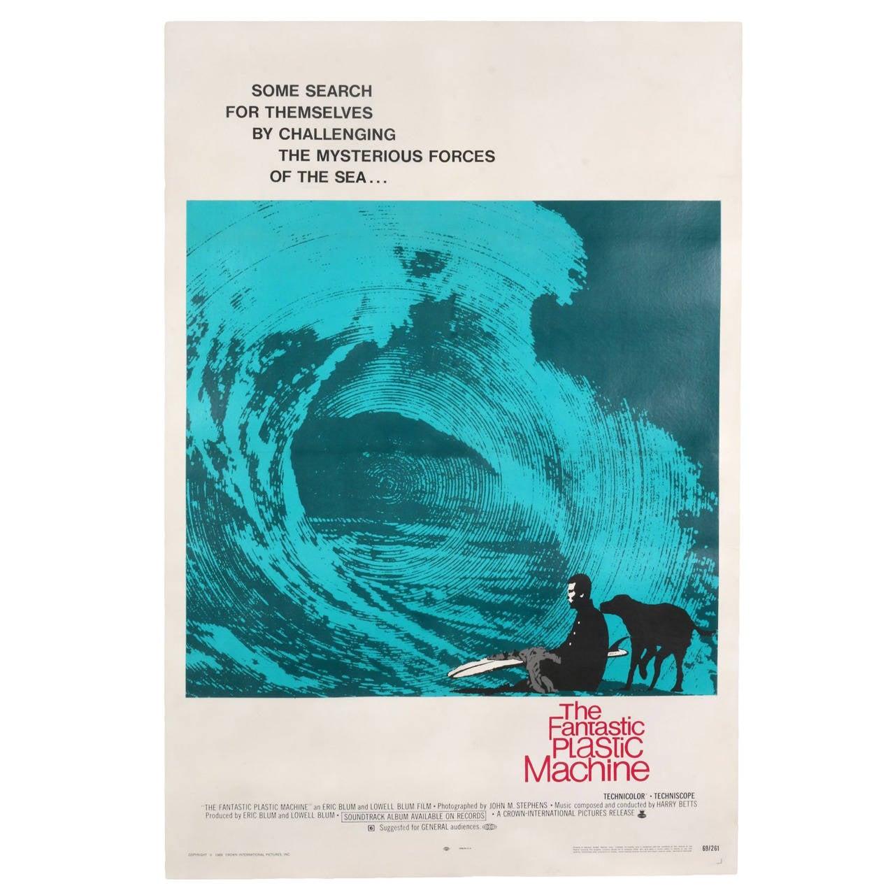 Original Vintage 1969 Surf Movie Poster, the Fantastic ...