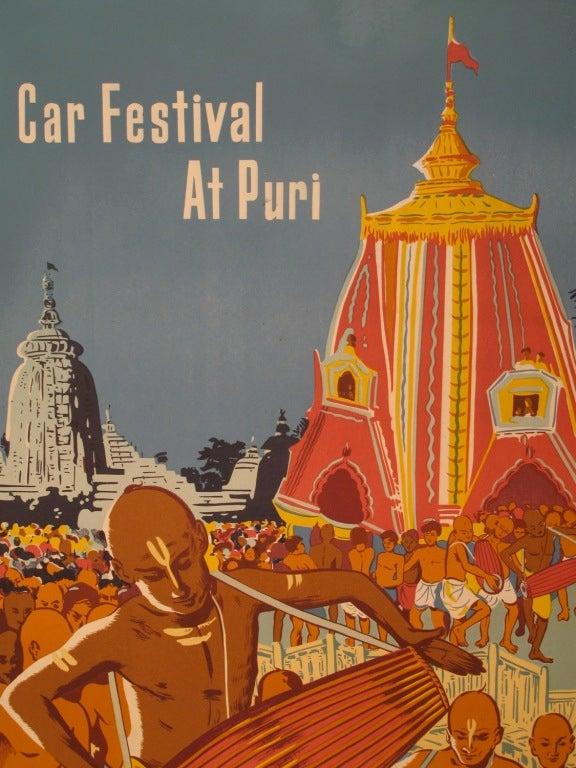 Original 1950s India Travel Poster 3