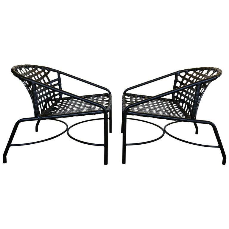 Outdoor Vintage Kantan Lounge Chairs, Vintage Brown Jordan Outdoor Furniture