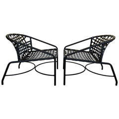 Pair of Outdoor Vintage Kantan Lounge Chairs by Tadao Inouye for Brown Jordan