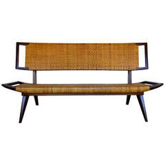 Paul Laszlo Caned Sofa Bench