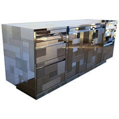 Paul Evans Signed Cityscape Credenza