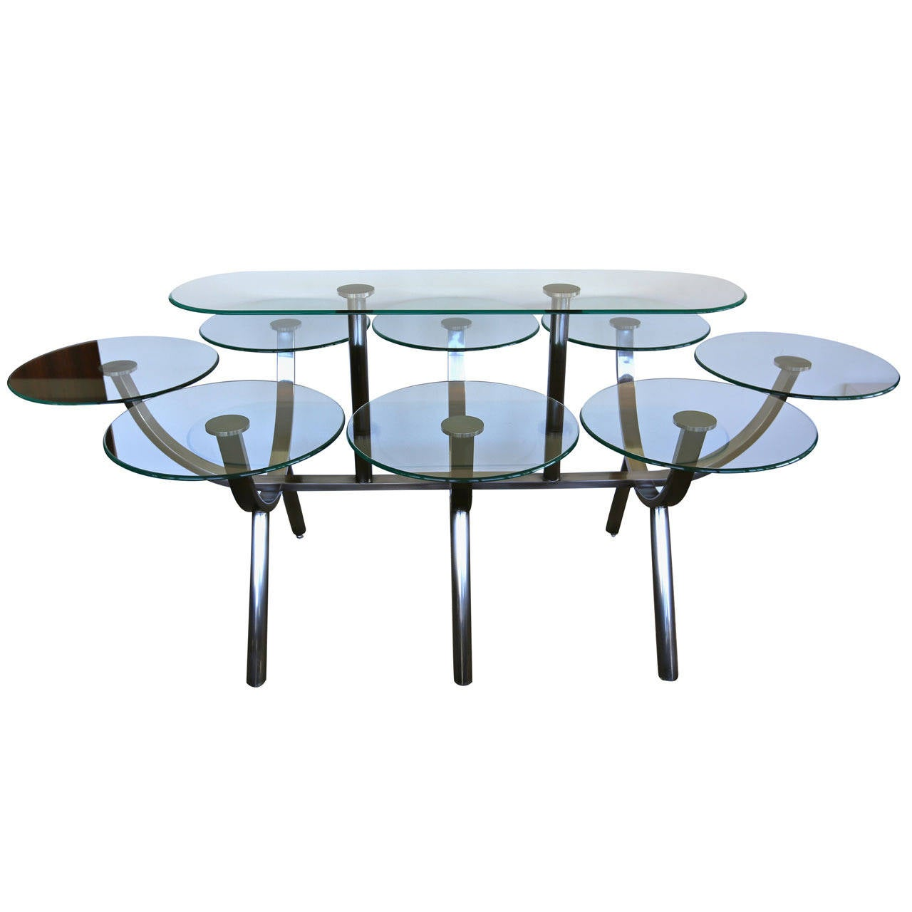 Circle of life dining table by design institute of for Circle furniture dining tables