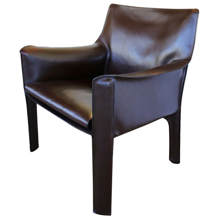 Mario Bellini Leather Cab Lounge Chair For Cassina At 1stdibs