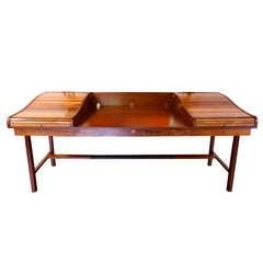 Rosewood Roll-Top Desk by Edward Wormley for Dunbar, circa 1950