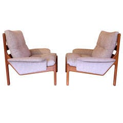 Pair of Lounge Chairs by Niels Bach