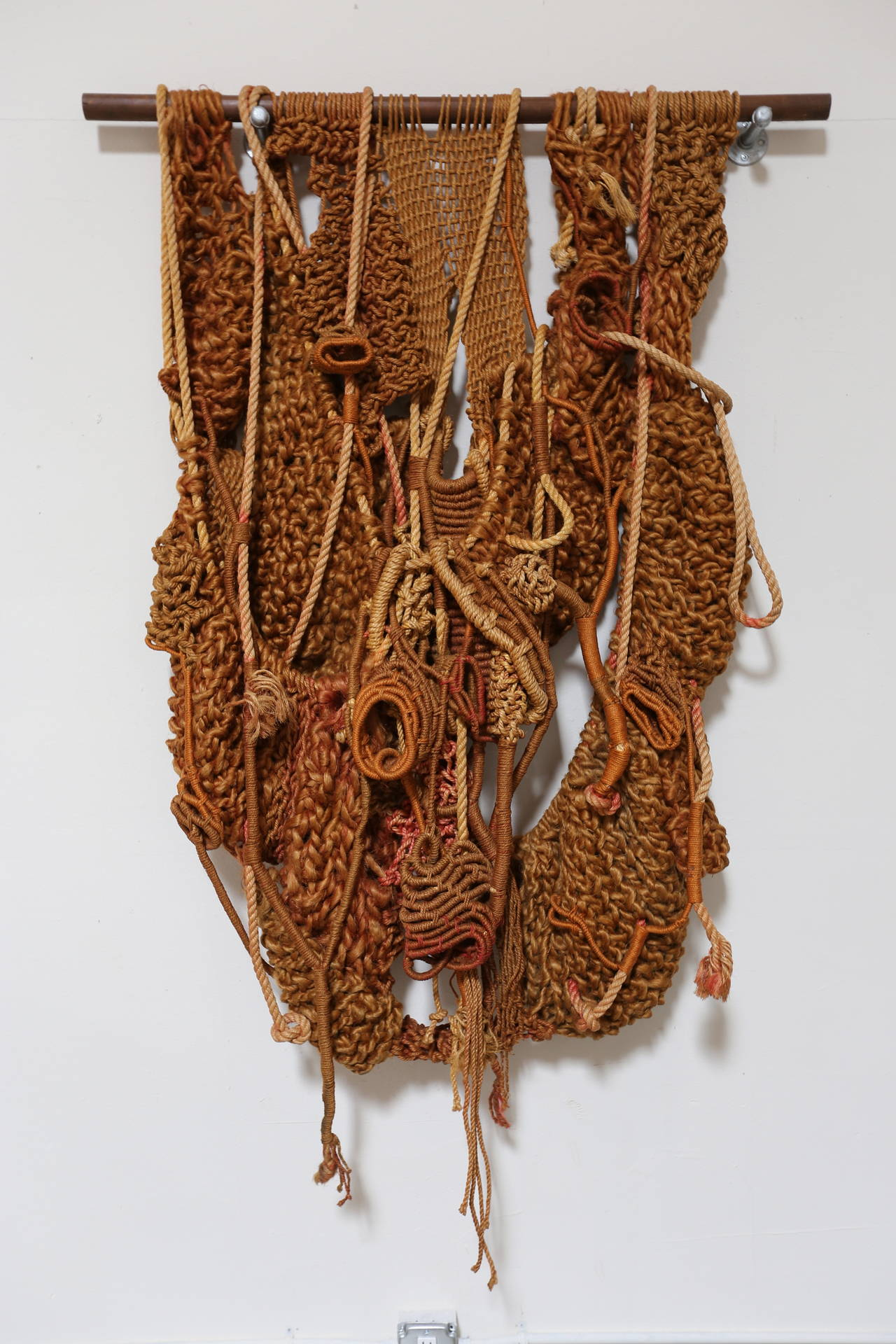 macrame large large sculptural macrame wall hanging at 1stdibs 5791