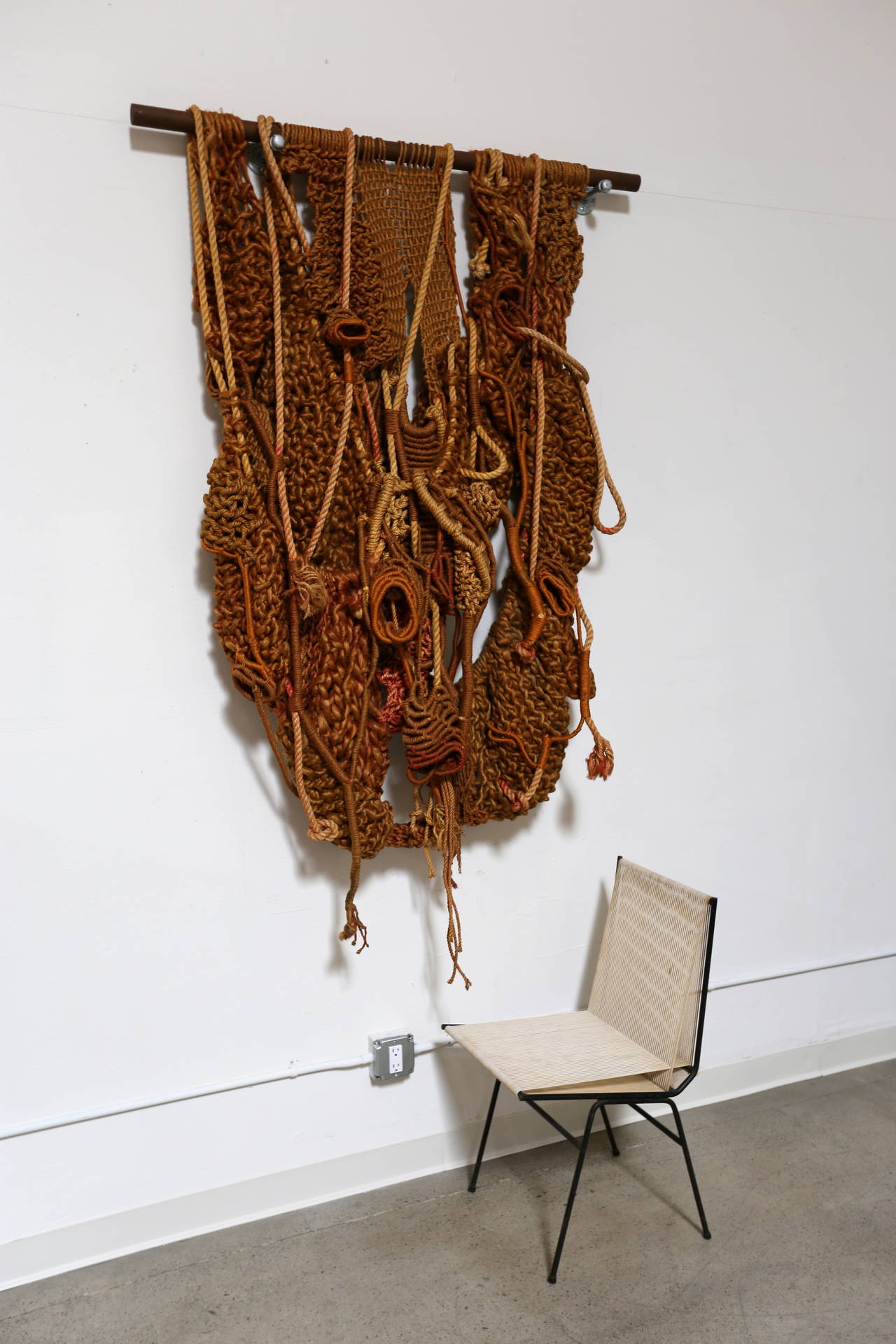 Large Sculptural Macrame Wall Hanging At 1stdibs