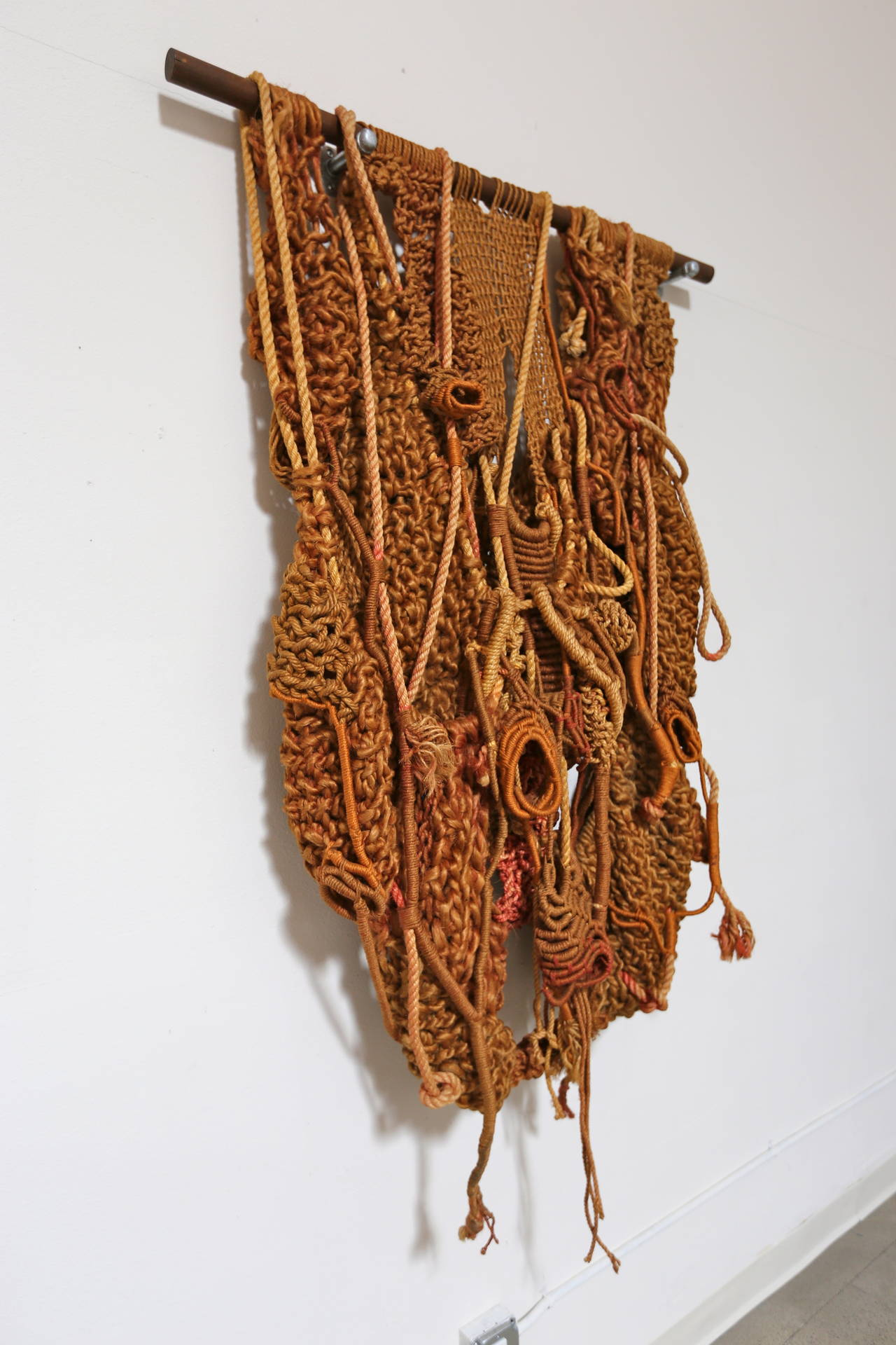 macrame large large sculptural macrame wall hanging at 1stdibs 9846