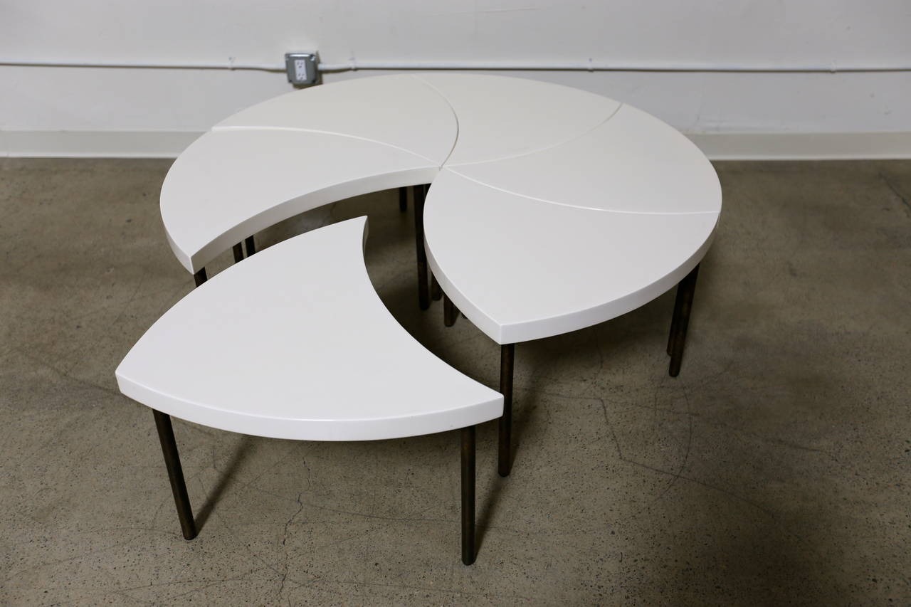 Modernist modular pinwheel coffee table for sale at 1stdibs - How tall should a coffee table be ...