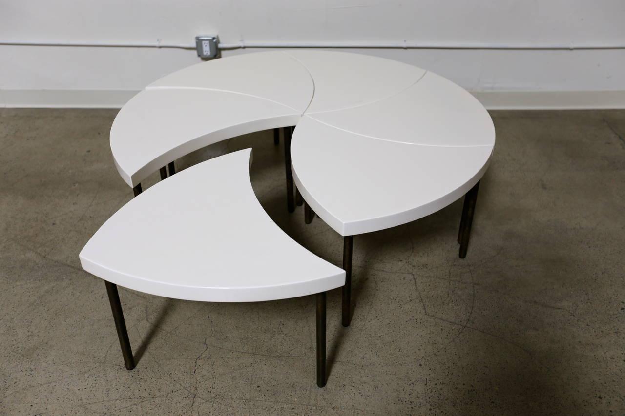 Modernist Modular Pinwheel Coffee Table For Sale At 1stdibs