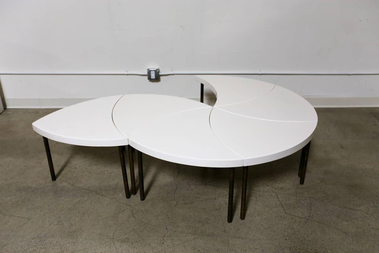 modernist modular quot pinwheel quot coffee table for sale at 1stdibs series of three gio ponti modular coffee tables circa