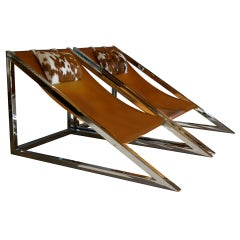 """Pair of """"Mies"""" Lounge Chairs by Archizoom Associati Italy"""