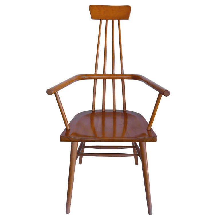 High Back Windsor Chair Designed by Paul McCobb at 1stdibs
