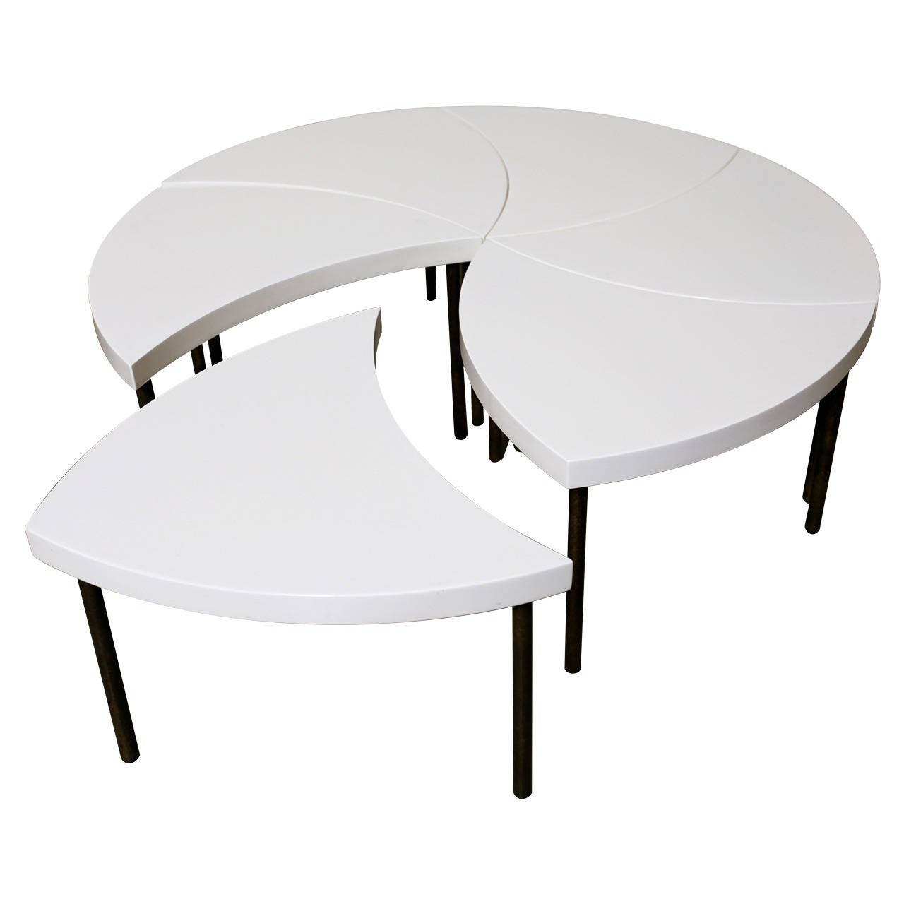 Modernist Modular Pinwheel Coffee Table For Sale At 1stdibs