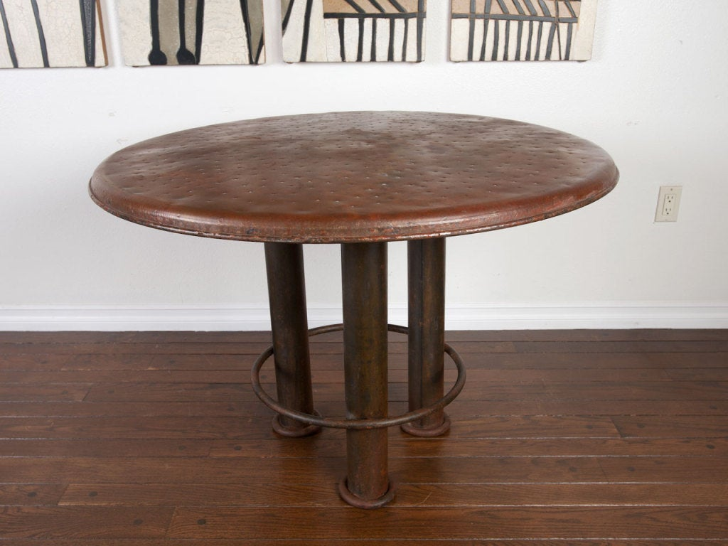 Mexico hand made vintage iron dining table and chairs at  : 922013328050854 from www.1stdibs.com size 1024 x 768 jpeg 97kB