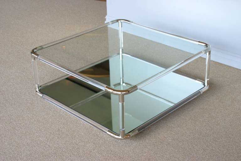 Https Www 1stdibs Com Furniture Tables Coffee Tables Cocktail Tables Square Lucite Mirror Coffee Table Id F 772691