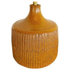 Art Pottery Lamp by Californian Ceramic Artist David Cressey