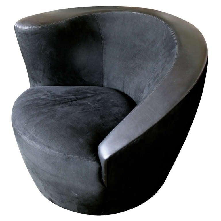 Nautilus Swivel Chair by Vladimir Kagan for Directional at