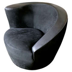 Nautilus Swivel Chair by Vladimir Kagan for Directional
