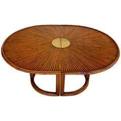 "Gabriella Crespi ""Rising Sun"" Bamboo Dining Table"